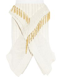 Altuzarra Typhoon Fringed Pinstripe Cotton-Blend Skirt - Lyst