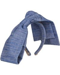 Masterpeace - Good Girl Flat-Bow Denim Headband - Lyst