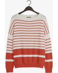 Vince Cashmere Stripe Banded Rib Sweater - Lyst