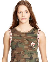 Denim & Supply Ralph Lauren Beaded Camo Top - Lyst
