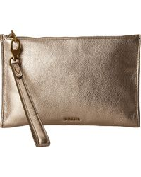 Fossil | Large Zip Clutch | Lyst
