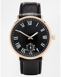 Asos Watch with Roman Numerals - Lyst