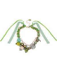 Betsey Johnson Critter Charms Frontal Necklace - Lyst