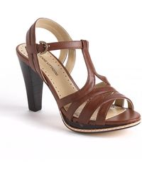 Adrienne Vittadini Atlas Leather Platform Sandals - Lyst