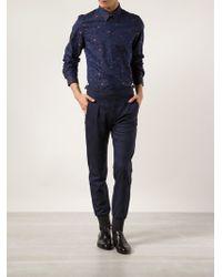 Paul Smith Blue Print Shirt - Lyst