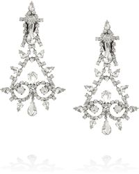 Kenneth Jay Lane Gunmetaltone Crystal Chandelier Clip Earrings - Lyst