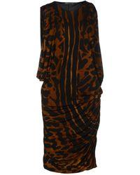 Alexander McQueen Animal Knee-length Dress - Lyst