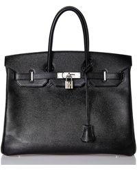 Hermès Vintage Black Epsom Birkin 35cm - Lyst