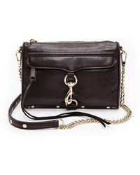 Rebecca Minkoff Mini Mac Bag  Black Cherry - Lyst