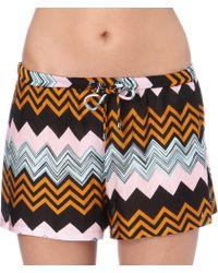 Missoni Zigzag Print Shorts Black - Lyst