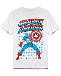 21men Captain America Tee - Lyst