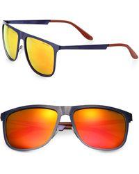 Carrera Flat-Top Metal Aviator Sunglasses - Lyst