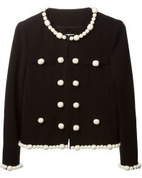 Moschino Cheap & Chic Bead Embellished Jacket - Lyst
