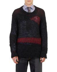 Junya Watanabe Asymmetric-stripe Oversize Sweater - Lyst