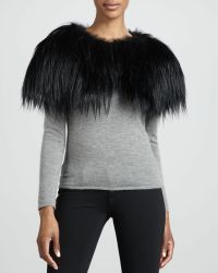 J. Mendel Dyed Goat Hair Cape - Lyst