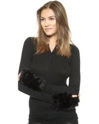 Jocelyn Mandy Fur Mittens - Natural Heather - Lyst