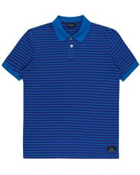 Paul Smith Blue And Purple Stripe Cotton Polo Shirt - Lyst