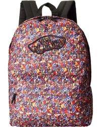 Vans Realm Backpack purple - Lyst