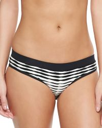 Shoshanna Textured-Stripe Banded Swim Bottom - Lyst