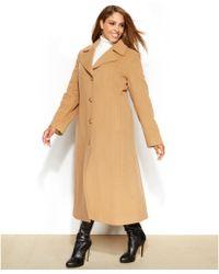 Anne Klein Plus Size Wool-Cashmere-Blend Maxi Walker Coat - Lyst