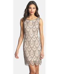 Pisarro Nights Embellished Mesh Cocktail Dress - Lyst
