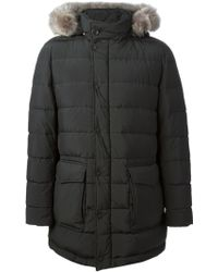 Herno Fur Hooded Padded Parka - Lyst