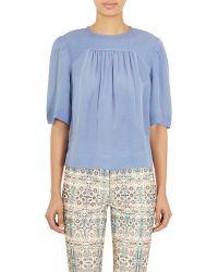 Isabel Marant Embellished Midja Blouse blue - Lyst