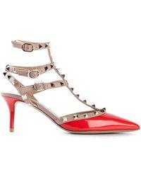 Valentino Red 'Rockstud' Pumps - Lyst