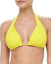 Shoshanna Textured Halter Bikini Top - Lyst