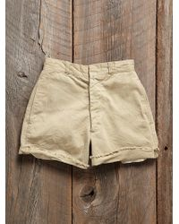 Free People Vintage Khaki Shorts - Lyst