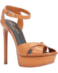Saint Laurent Bianca Platform Sandals - Lyst