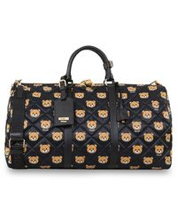 Moschino - Bear Print Quilted Weekend Bag - Lyst
