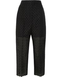Stella McCartney Embroidered Organza Pants - Lyst