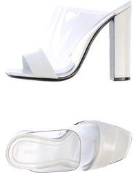 Celine Sandals white - Lyst