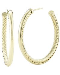 David Yurman Pre-owned 18kygold Medium Hoops - Lyst