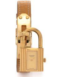 Hermès HermãˆS Gold Kelly Watch gold - Lyst