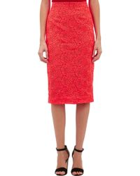A.L.C. Rose-Embroidered Towner Midi Skirt - Lyst