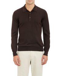 Barneys New York Polo Sweater - Lyst