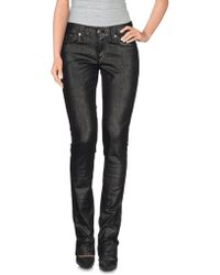 Ralph Lauren Black Label Denim Trousers black - Lyst