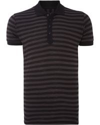 Diesel Striped Short Sleeve Polo Shirt - Lyst