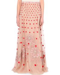 Temperley London Josette Floral-Embroidered Silk Skirt - Lyst