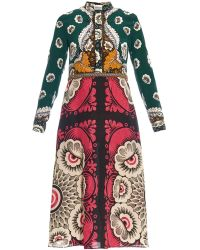 Valentino Embroidered Lace Silk-Blend Dress multicolor - Lyst