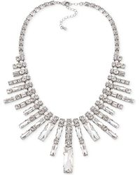 Carolee Silver-tone Crystal Fan Statement Necklace - Lyst