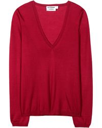 Jil Sander Cashmere and Silk-Blend Sweater - Lyst