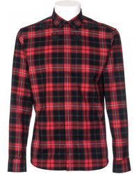 Givenchy Cotton Shirt Slim Fit Printing Scottish Red red - Lyst