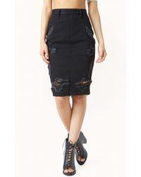 One Teaspoon Freelove Pencil Skirt - Lyst