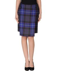 Dondup Knee Length Skirt - Lyst