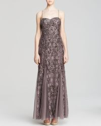 Aidan Mattox Gown  Strapless Sequin Lace Godet - Lyst