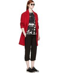 Etoile Isabel Marant Red Tweed Dante Coat - Lyst