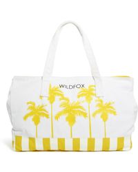 Wildfox Bel Air Palms Canvas Beach Bag - Lyst
